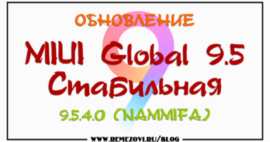 MIUI Global 9.5 Стабильная 9.5.4.0 (NAMMIFA)